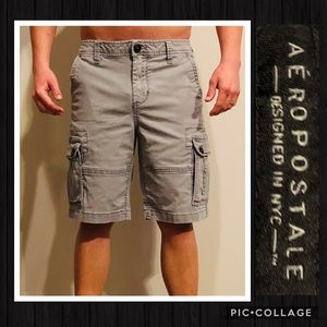 Aeropostale Men's Gray Cargo Shorts